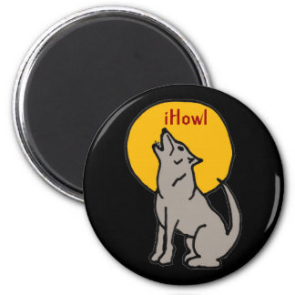T5- iHowl Wolf Design Fridge Magnet
