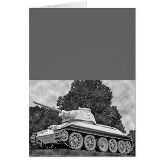 T-34 Russian Tank,Soviet Memorial,Berlin - B&W(2) Greeting Card