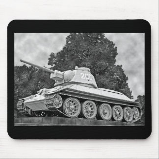 T-34 Russian Tank,Soviet Memorial,Berlin - B&W(2) Mouse Pad