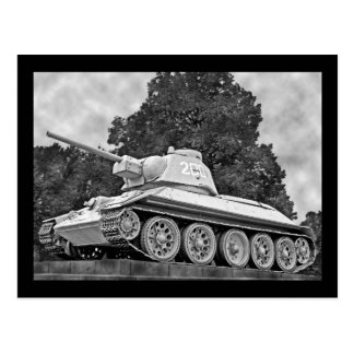 T-34 Russian Tank,Soviet Memorial,Berlin - B&W(2) Postcard