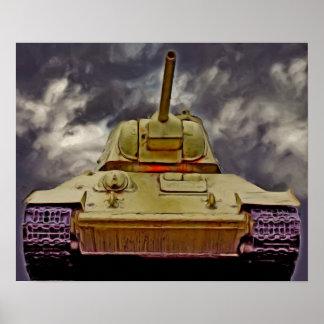 T-34 Russian Tank,Soviet Memorial,Berlin - Oil/Fro Poster
