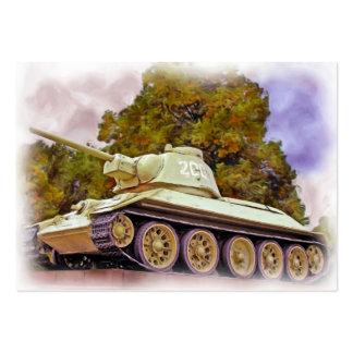 T-34 Russian Tank,Soviet War Memorial, Berlin -Oil Business Card Template