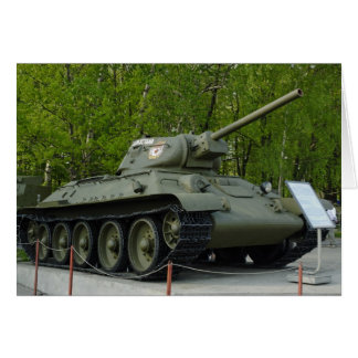 T-34 tank card