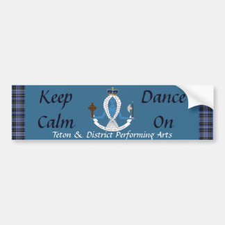"T&D ""Keep Calm Dance On"" Bumpersticker Bumper Sticker"