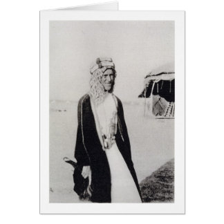 T. E. Lawrence in Arab Dress (b/w photo) Card