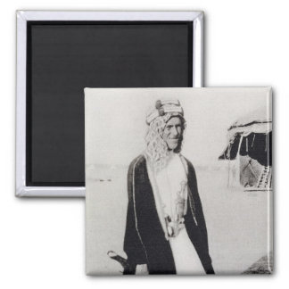 T. E. Lawrence in Arab Dress (b/w photo) Square Magnet