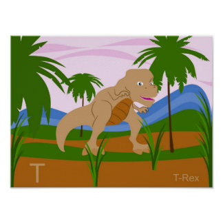 T for T-rex Poster