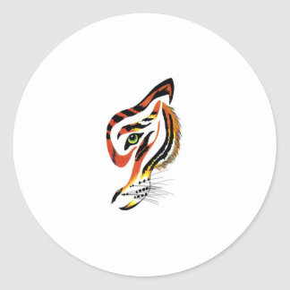 T for tigers! round sticker