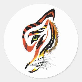 T for tigers! round sticker