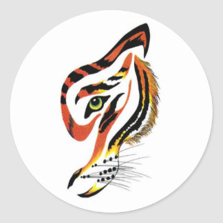 T for tigers! round stickers