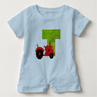 T for tractor Romper Baby Bodysuit