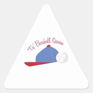 T is Baseball Season Triangle Sticker