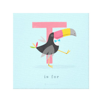 T is for... canvas print