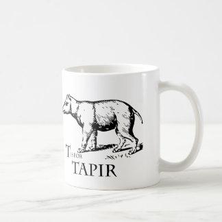 T is for Tapir mug