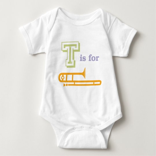 T is for Trombone Baby Bodysuit