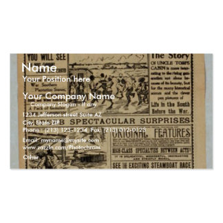 T J Downs Mammoth Retro Theater Business Card Templates