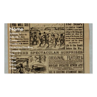T J Downs Mammoth Retro Theater Business Cards