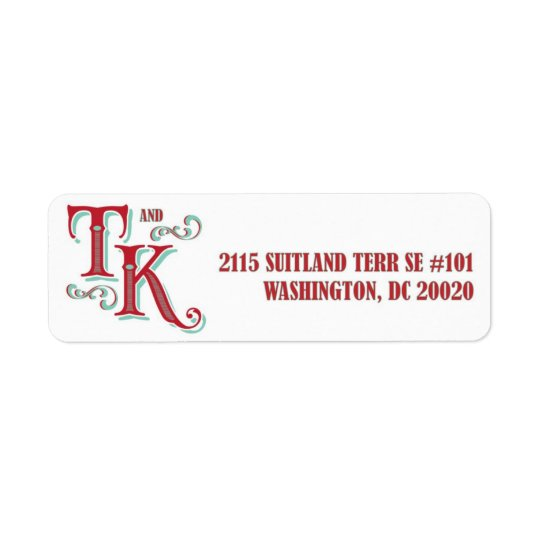 T&K return address carnival label