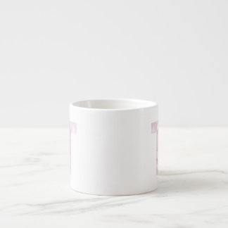 T - Low Poly Triangles - Neutral Pink Purple Gray Espresso Mug