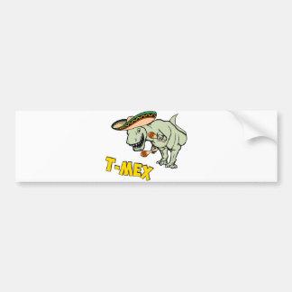 T-Mex T-Rex Mexican Tyrannosaurus Dinosaur Bumper Sticker