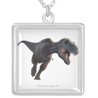 T Rex 2 Silver Plated Necklace