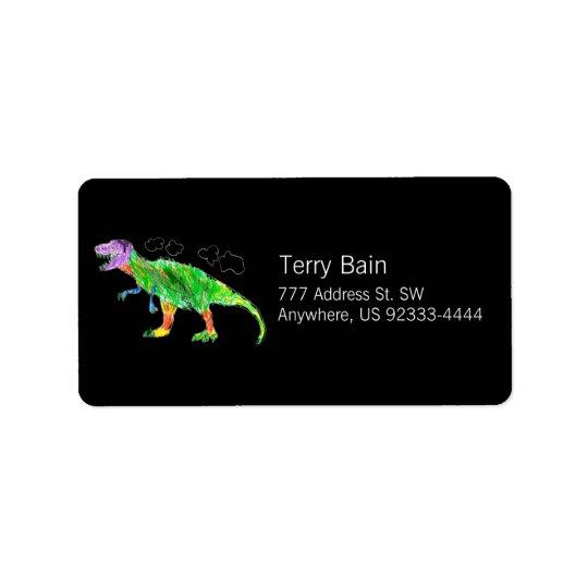 T-Rex Address Label