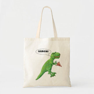 T-Rex and Pizza Tote Bag