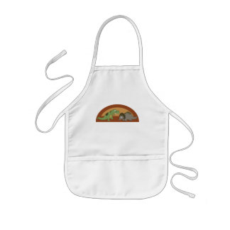 T-Rex and Triceratops Aprons