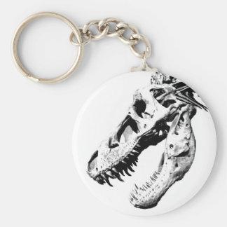 t-rex basic round button key ring