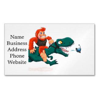 T rex bigfoot-cartoon t rex-cartoon bigfoot Magnetic business card