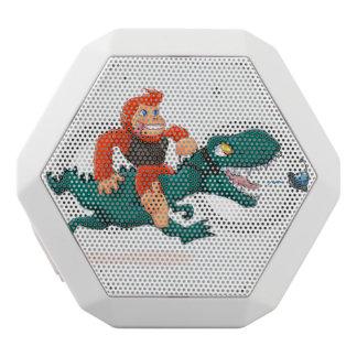 T rex bigfoot-cartoon t rex-cartoon bigfoot white bluetooth speaker