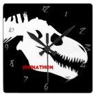 T-rex Bones Personalised Square Wall Clock