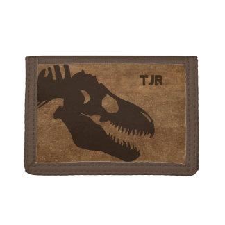 T-Rex Bones Personalized Tri-fold Wallet