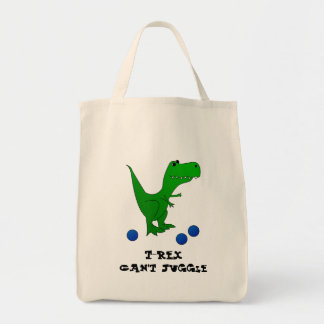 T-Rex Can't Juggle tote