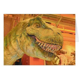 T-Rex Cartoon Invitation Greeting Card