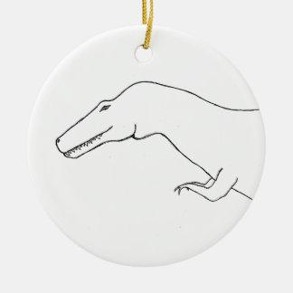 T Rex Christmas Ornament