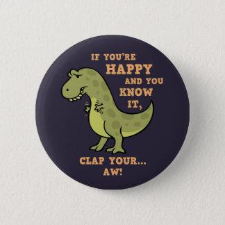 T-Rex Clap II 6 Cm Round Badge