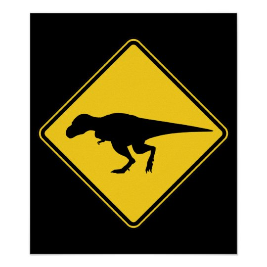 T-Rex Crossing Poster