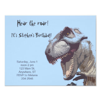 T-Rex Dinosaur Birthday Invitation