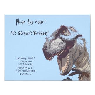 "T-Rex Dinosaur Birthday Invitation 4.25"" X 5.5"" Invitation Card"