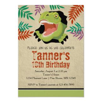 T Rex Dinosaur Birthday Invitations │ Green