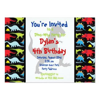 T Rex Dinosaur Birthday Party Custom Invitations