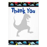 T Rex Dinosaur Birthday Party Thank You Cards Invitation