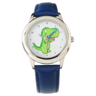 T-rex dinosaur cartoon kids watch