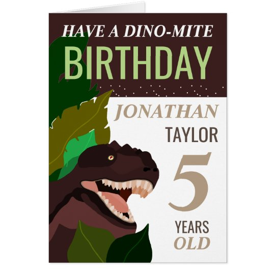 T Rex Dinosaur Children's Birthday Card