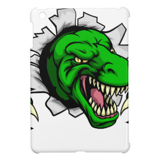 T Rex Dinosaur Clawing Hole in Background iPad Mini Cover