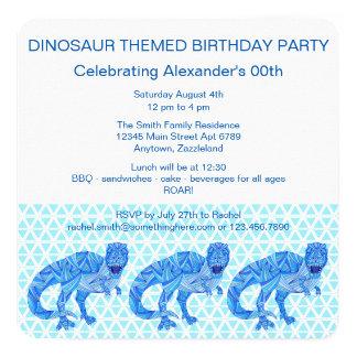 T-Rex Dinosaur Colorful Prehistoric Animal 13 Cm X 13 Cm Square Invitation Card