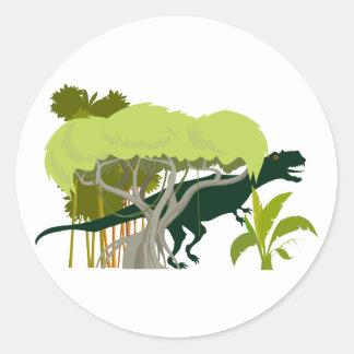 T-Rex dinosaur Dino dinosaur Round Sticker