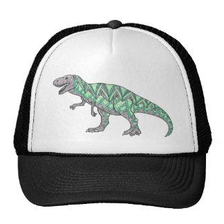 T-Rex Dinosaur Doodle Illustrated Art Mesh Hats