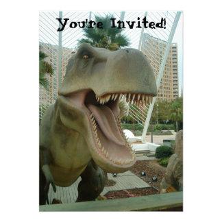 T-Rex Dinosaur Invitation